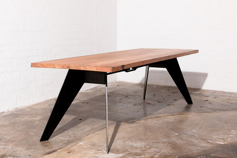 dining table with black legs