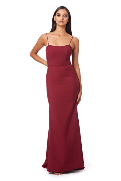 Kim Square Neck Maxi Dress with Cami Straps