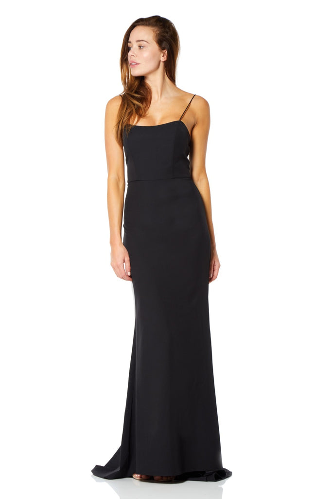 ab82cf6710 Kim Square Neck Maxi Dress with Cami Straps – Jarlo London