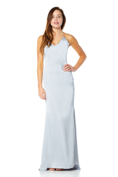 Zariah Slinky Maxi Dress with Strappy Open Back Detail
