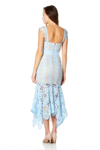 Renee All Over Cutwork Lace Midi Dress