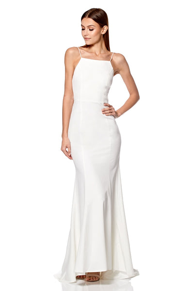 Jemima Square Neck Maxi Dress with Open Back