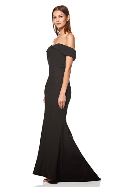 Karolina Cross Front and Back Bardot Maxi Dress