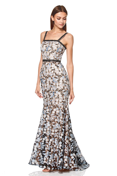 Amora All Over Lace Maxi Dress with Shoulder Straps