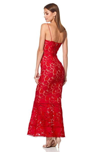 Savannah Cami Strap Allover Lace Maxi Dress