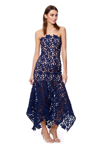 Summer All Over Lace Bandeau Midi Dress