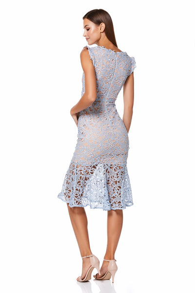 Nolita All Over Lace Midi Dress with Bust Undercut