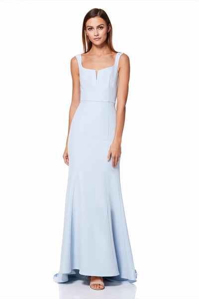 Skylar Square Neck Maxi Dress With Fishtail Train