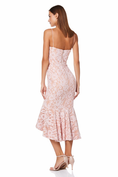 Cleo All Over Lace Cami Strap Midi Dress