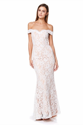 Vanessa Bardot All Over Lace Maxi Dress