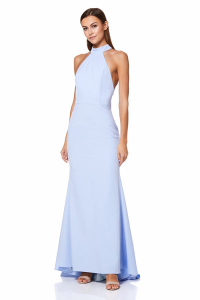 Cecily Halter Neck Maxi Dress with Back Strap Detail