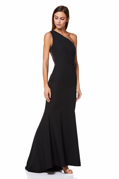 Zana One Shoulder Maxi Dress With Lace Back