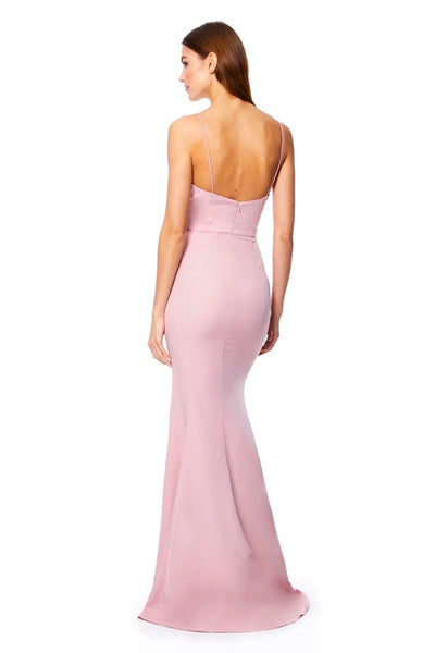 Anya Fishtail Maxi Dress with Deep V Neckline