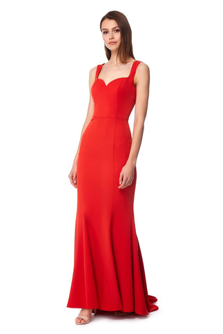Bianca Fishtail Maxi Dress with Sweetheart Neckline
