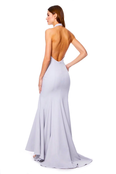 Mimi Halter Neck Maxi Dress with Open Back