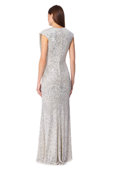 Chloe Wrap Front Sequin Maxi Dress