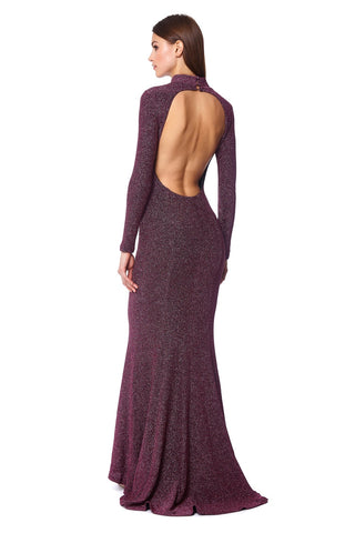 Gigi High Neck Open Back Knit Maxi Dress