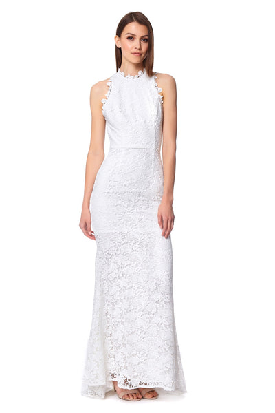 Lilliana Lace Maxi Dress with Back Strap Detail