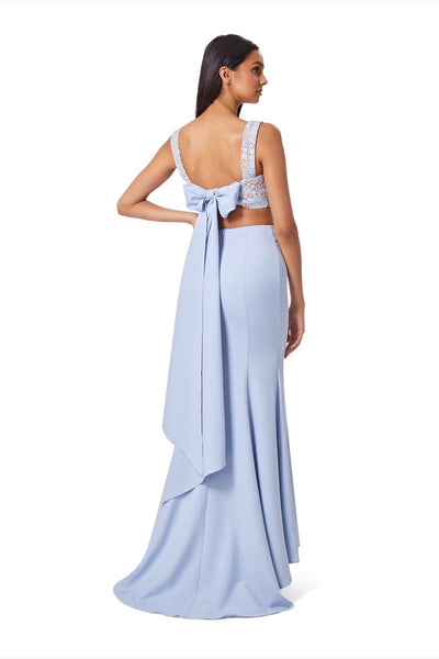 Solange Bow Back Top & Long Skirt Two Piece Set