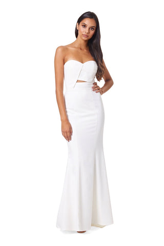 Amelie Strapless Maxi Dress With Cut Out Detail