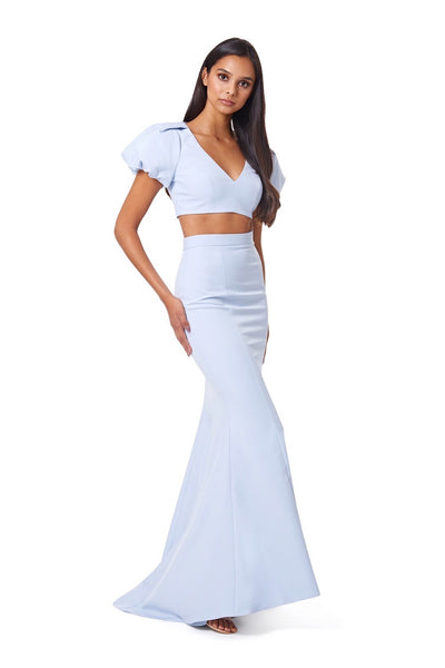 Maple V Neck Top & Long Skirt Two Piece Set