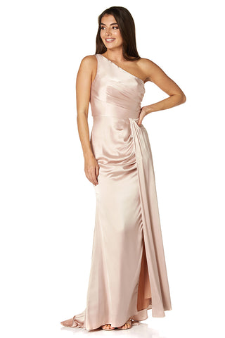 Esme One Shoulder Maxi Dress with Thigh Split