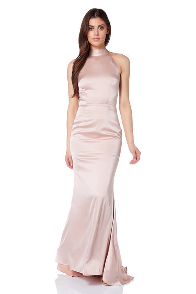 Dawn Halter Neck Maxi Dress with Back Tie Detail