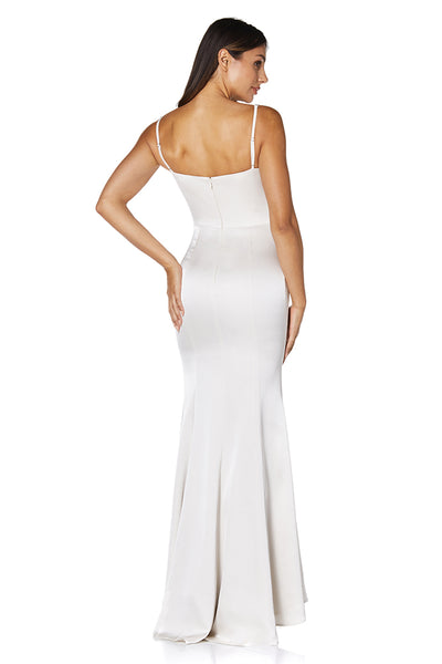 Kathryn Folded V Neck Strap Maxi Dress