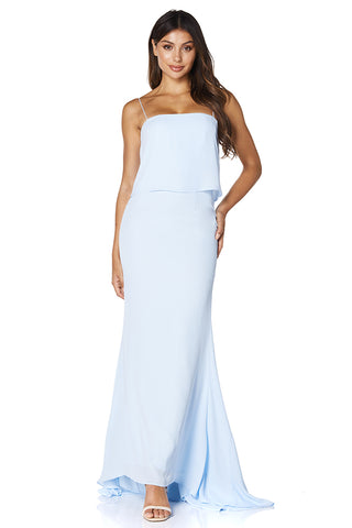 Carine Overlay Maxi Dress with Spaghetti Straps