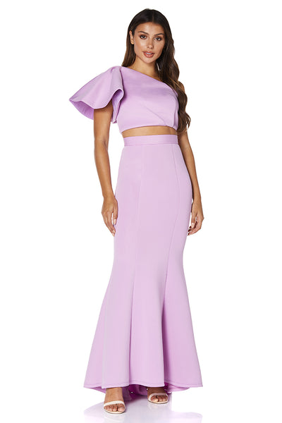 Jess Top & Long Skirt Scuba Two Piece Set