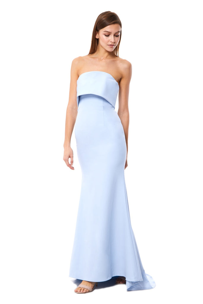 b493e9dc6cc4 Blaze Strapless Maxi Dress With Overlay – Jarlo London