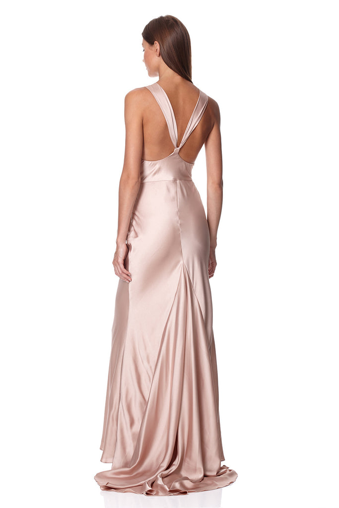 a94cd110d9f Mika Slinky Cowl Front Maxi Dress With Strappy Back Detail – Jarlo ...