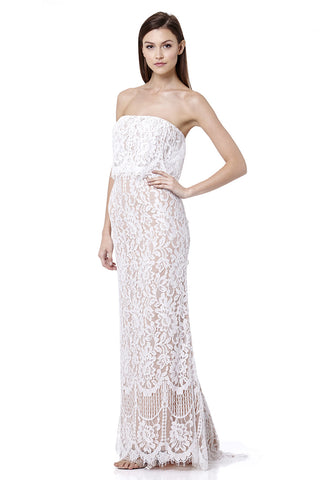 Adeline All Over Lace Bandeau Maxi Dress