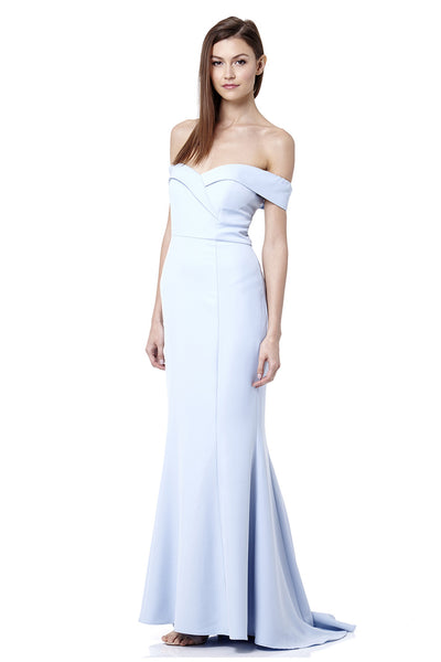 Draya Bardot Maxi Dress With Train
