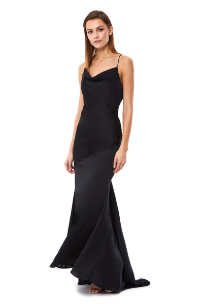Roxanne Cowl Neck Maxi Dress with Open Back