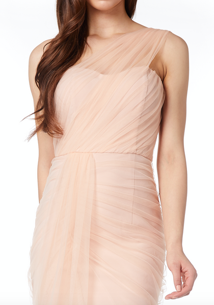 Rosamund One Shoulder Tulle Maxi Dress