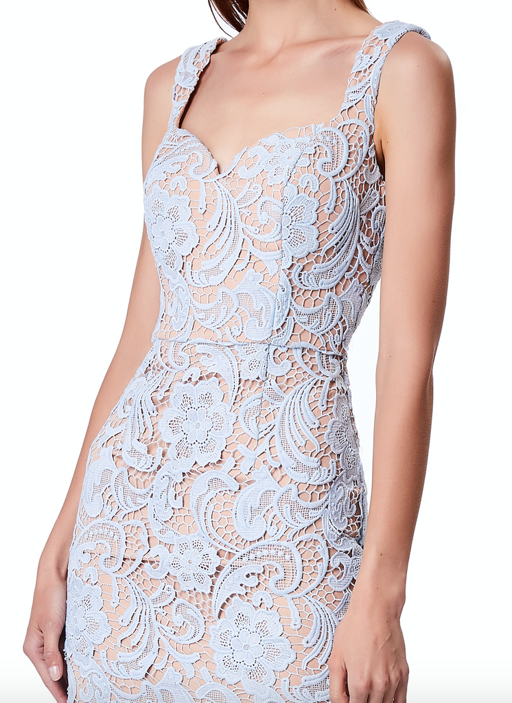 16b4a38177709 Olivia All Over Lace Midi Dress with Sweetheart Neckline – Jarlo London