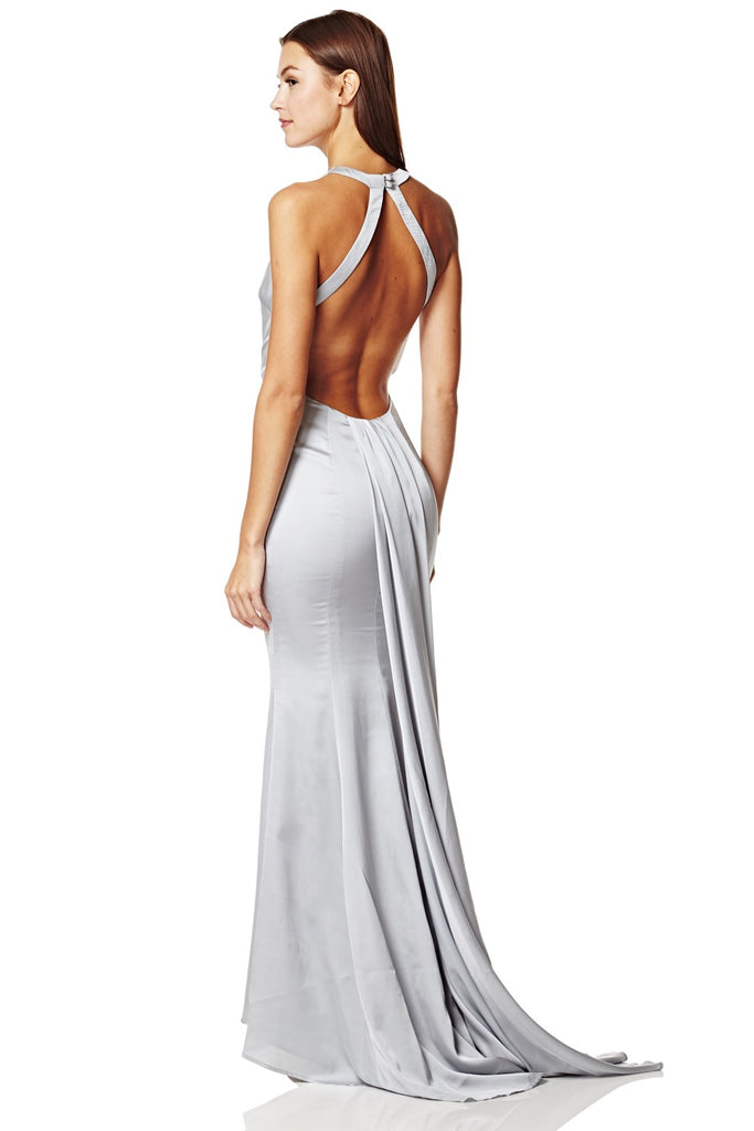 3e2433508d1 Blanche Open Back Maxi Dress With Train Detail – Jarlo London