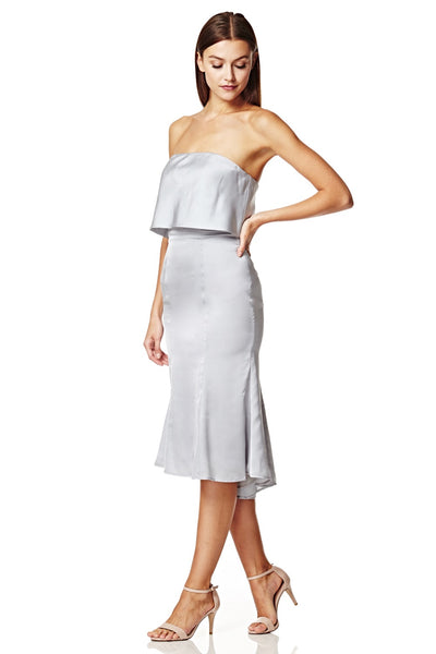 Isolde Strapless Midi Dress with Overlay
