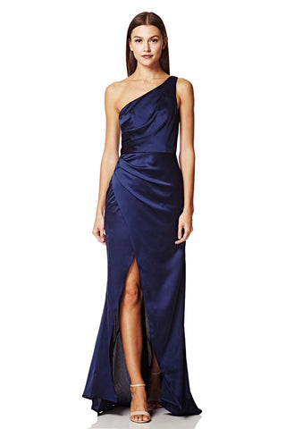 Lisa One Shoulder Maxi Dress with Pleat Detail