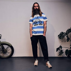 TSPTR x DAWSON DENIM | 60'S BORDER STRIPE JOE MOTOCROSS T SHIRT