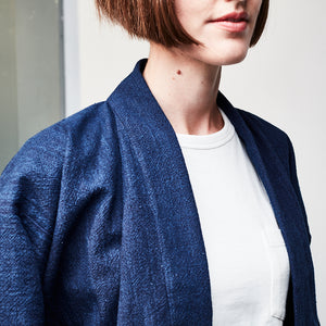WOMENS SUMAE JACKET : DD026 INDIGO DYED COTTON
