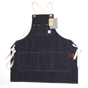 THE MECHANIC APRON : DD04 RED SELVEDGE