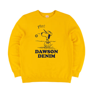 DAWSON DENIM x TSPTR | SNOOPY PTUI SWEAT - YELLOW