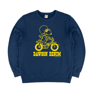 DAWSON DENIM x TSPTR | JOE MOTOCROSS SWEAT - NAVY