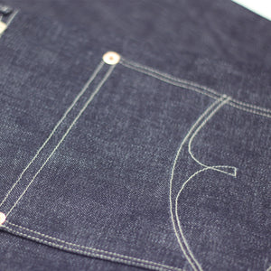 DAWSON WIDE TAPERED FIT JEANS : DD014 NATURAL DYED INDIGO 14.5OZ