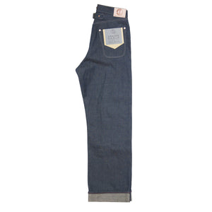 DAWSON WIDE LEG JEANS : DD03  HANK DYED WHITE SELVEDGE