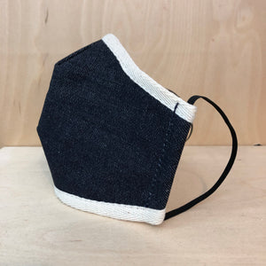 NON SURGICAL SELVEDGE DENIM FACE MASK WITH CARBON FILTERS