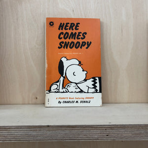 "Peanuts ""Here comes Snoopy"" book."