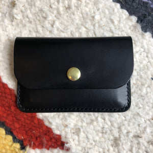 Black vegetable dyed card holder